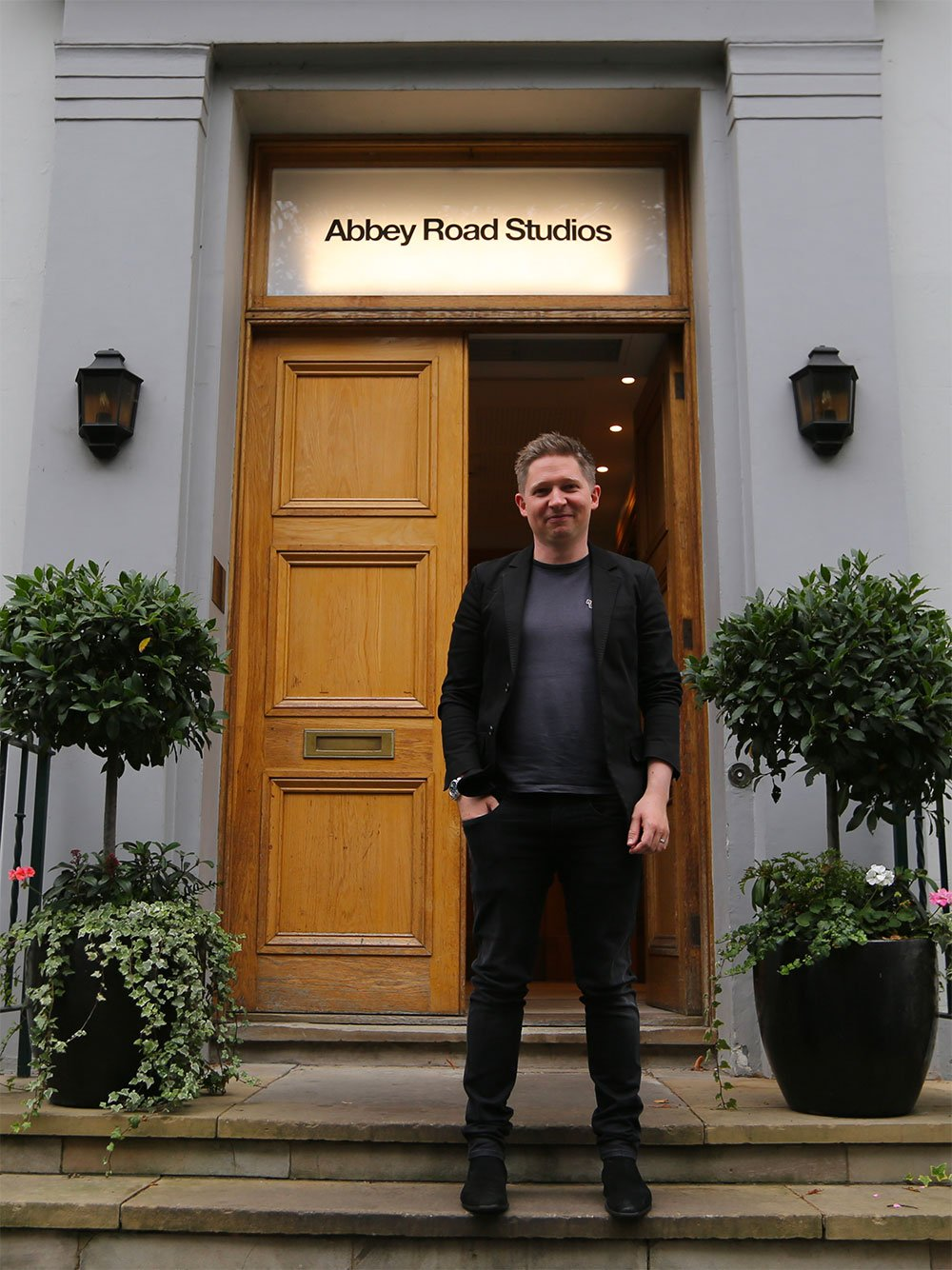 Ryan Edwards outside Abbey Road Studios